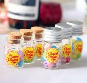 Doll House Accessories 1:12th Miniature - 2 x Jar of Chupa Chups (1 of each)