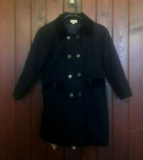 VINTAGE BLACK JACKET WOOL & POLYESTER PIU BELLO SIZE 7