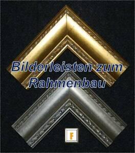 "Bilderrahmenleisten Serie ""REMBRANDT"" als Meterware, Antiksilber/Antikgold"