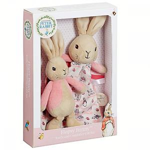 ~❤️~Beatrix Potter FLOPSY Peter Rabbit BUNNY Baby Blanket Rattle Gift Set❤️