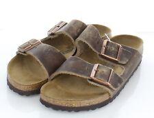 B5 NEW $135 Women's Sz 38N Birkenstock Arizona Oiled Leather Soft Footbed Sandal