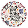 2 x 10cm French Bulldog Tattoo Vinyl Stickers - Dog Sticker Laptop Luggage #8458