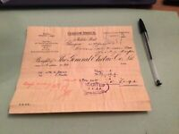 The General Electric  Co Ltd Glasgow Branch 1905  Receipt Ref 50297
