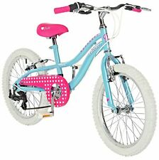 Pazzaz 18 Inch Steel 6 Gear V-Brakes Cruisy Children's Bike - Pink & Blue