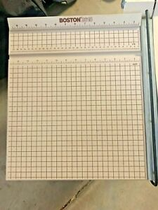 "Vintage Boston 2615 Large Paper Trimmer Cutter Guillotine Style 15"" Square"