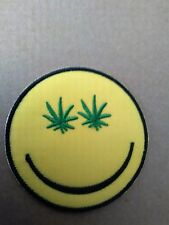 FESTIVAL TIME SMILEY FACE PATCH.  SEW OR IRON  ON .