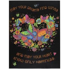 "Laurel Burch Birthday Card - ""Butterfly Heart"" With Envelope"