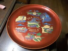 Vintage 1960s Sea World Plastic Tray Made In Japan