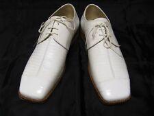 Liberty New White Croco Lizard Print Laceup Dress Shoes 43-901
