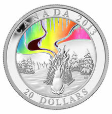 2013 $20 Fine Silver Coin A Story of the Northern Lights: The Great Hare Proof