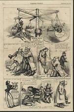 Swing Around the Circle Columbia Thomas Nast 1868 antique wood engraved print