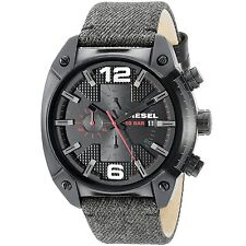 Diesel Men's DZ4373 'Overflow' Chronograph Green Leather Watch