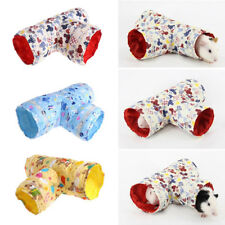 3 Way Small Animal Tunnel Ferret Hamster Guinea Pig Exercise Toy Pet Tube BS