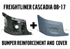 Freightliner Cascadia Bumper Right Side Reinforcement & Cover With NO Fog Hole