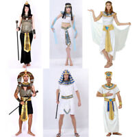 Halloween Egyptian Pharaoh King Empress Cleopatra Queen Costume for Men Women