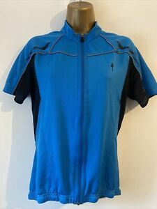 Specialized Shirt Sleeve Blue Cycling Jersey Size M