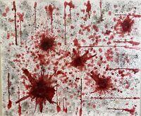 "Original Abstract Wax on Canvas  - ""Untitled"" - 20 x 24 in - dak_art"