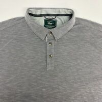 G.H. Bass & Co. Polo Shirt Men's 3XL XXXL Short Sleeve Gray Modal Blend Casual