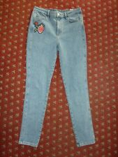 Marks and spencer skinny jeans size 10 with flower embroidery