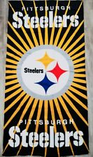 NFL Football Pittsburgh Steelers Licensed Bath and Wash Towels - 2 Piece Set