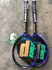 Rare/New/ 2 Prince Monos Tennis Racquet 43/8 with Plastic on grip!!!!