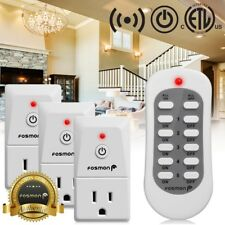 Fosmon 3x Wireless Remote Control Power Outlet Socket Plug Indoor ON/OFF Switch