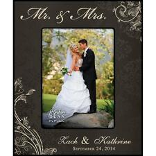 Personalized Laser Engraved Photo Frame, MR & MRS Wedding Names & Date