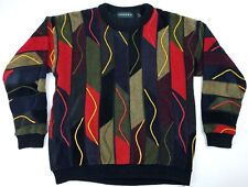 LARGE Vintage Tundra Canada Sweater Coogi Style Bill Cosby Biggie Smalls Men's