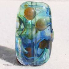 SNORKEL Handmade Art Glass Focal Bead Flaming Fools Lampwork Art Glass SRA