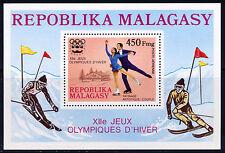 MADAGASCAR 1975 OLYMPICS INNSBRUCK 1976 SOUVENIR SHEET SKATING SKIING SCOTT C151
