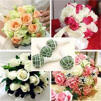 1/5Pcs Decoration Bridal Wedding Flower Bouquet Holder Floral Handle Foam
