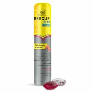 RESCUE PLUS 10 Oral Lozenges - Mixed Berry B Vitamins Flavour Calm Support Bach