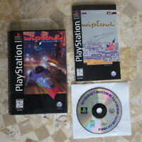 WIPEOUT LONGBOX COVER VARIANT ✨Playstation PS1✨ USA Complete & Nice -- Very Rare