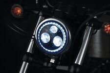 "Kuryakyn 2462 Orbit Vision 5 3/4"" L.E.D. Headlight with White Halo Black"