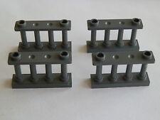 Lego 30055# 4x Zaun 1x4x2 grau neu dunkelgrau 7743 7048 60010
