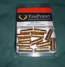 Tenpoint Brass Inserts 22/64 for Carbon Crossbow Bolts - 12pk Ten Point Hea-260