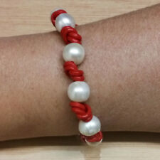 Armband 3 Perlas Kultiviert Grau,Leder Grau und Silber 1ª Gesetz 925 Stoffbeutel