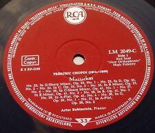 Chopin - Rubinstein – Mazurkas and Polonaises RCA LM 2049 C Germany LP 50's