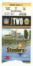 2004-05 AFC Championship Ticket New England Patriots Steelers Tom Brady