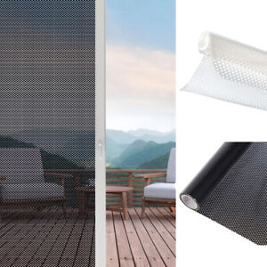 Window Sun Blocking Stickers Mesh Sunshade Self-adhesive Glass Film Translucent