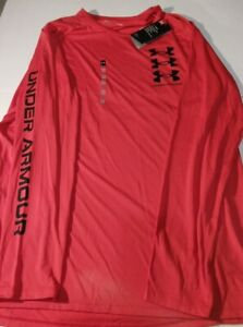 Men's Under Armour Heat Gear XXL Longsleeve Shirt  Red