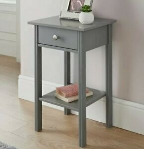 Larson Grey 1 Drawer Side/End Table Perfect For Your Home W40 x D35 x H65cm