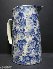 Heron Cross Pottery LAURA (BLUE) Chintz English 2 Pint Milk Jug