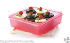 New Tupperware Bake 2 Basic Snack Stor (1) 2.9L, Pink, Square
