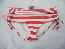 ~BNWT Ladies Sz 8 Very Cute Melon/White Stripe Rivers Brand Bikini Swim Pants~