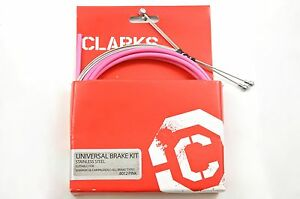CLARKS UNIVERSAL BRAKE CABLE SET STAINLESS STEEL 'PINK' OUTER MASSIVE DISCOUNT