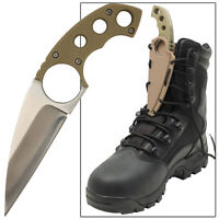 Bird Of Prey Talon Hunting Full Tang Tactical Lace Finger Hole Boot Shoe Knife