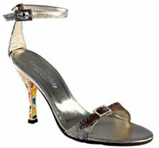 Gold Authentic Snake Skin Candace Blake Sandals