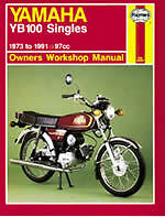 HAYNES MANUAL YAMAHA YB100 SINGLES 1973 to 1991