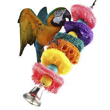 Set Chew BitesParakeet Cockatiel Cockatoo Conure Pet Bird Parrot Swing Cage Toy